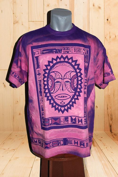 """Originální fialové tričko \""""Africká maska\"""" SKLADEM!"""