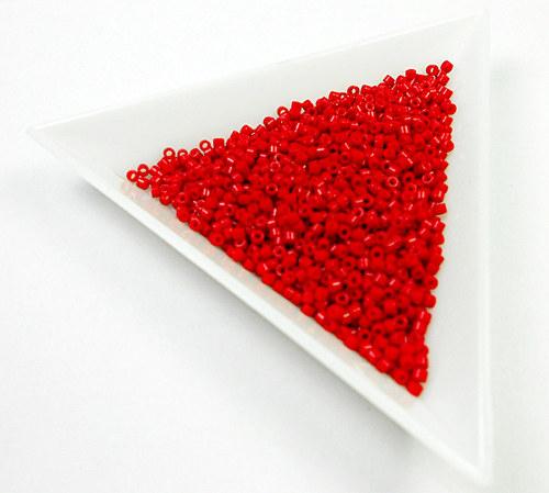 Miyuki Delica 11 opaque matte candy apple red 5 g