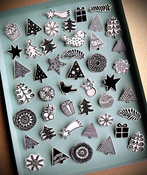 Christmas - placky a brože - výběr