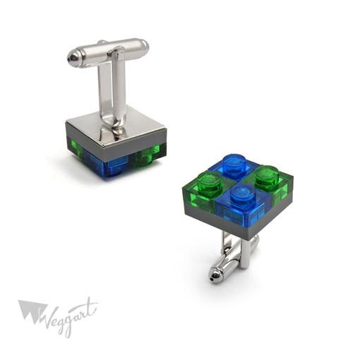 Manžetové knoflíčky Lego Green/Blue