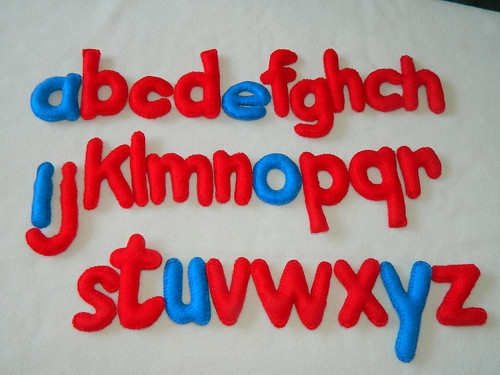 Montessori abeceda - malá písmena