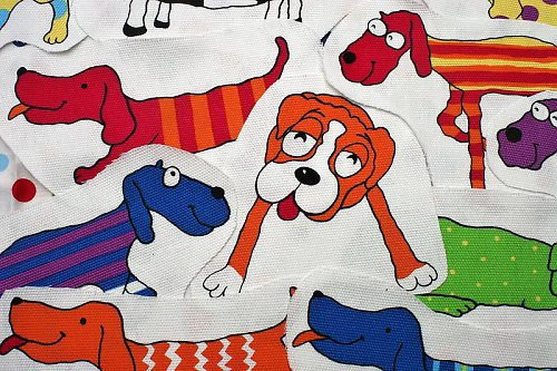Veselí psíci - nažehlovací obrázky