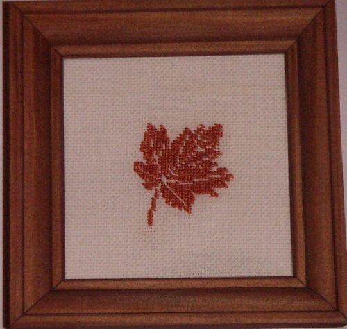 Vyšívaný obrázek - javorový list