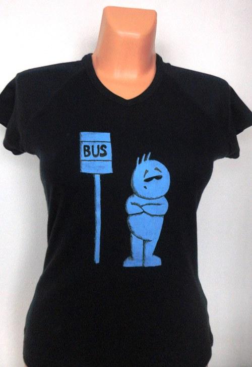 Tričko dámské Čekání na bus