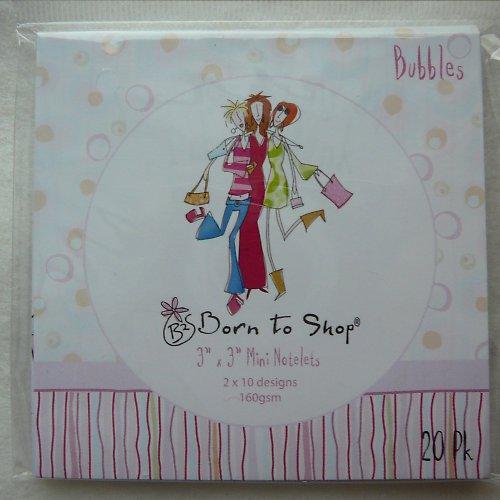 Sada minipapírů - Born to shop  notelets