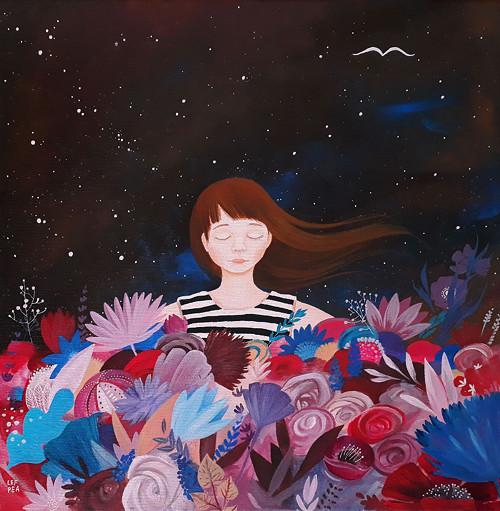 Květy lásky - 40x40cm
