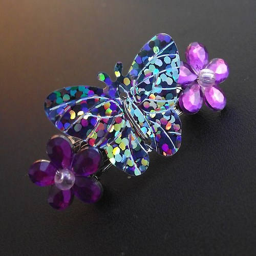 Motýlek na kytičkách