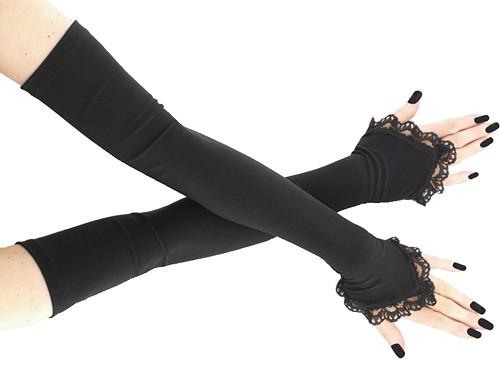 Dámské společenské rukavice černé  0025