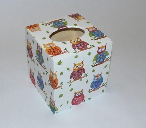 Soví krabička na kapesníčky II.