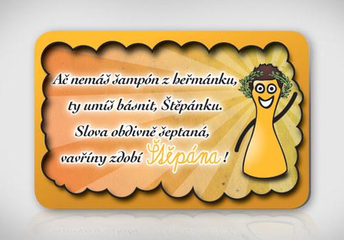 Poetická magnetka se jménem Štěpán