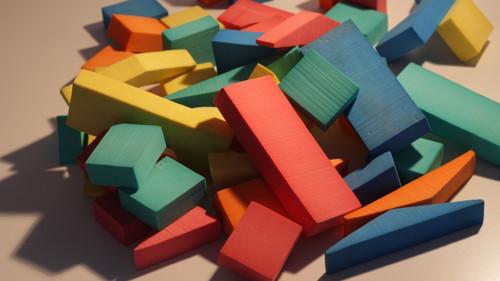 Retro pěnové kostky barevné pro děti na hranní