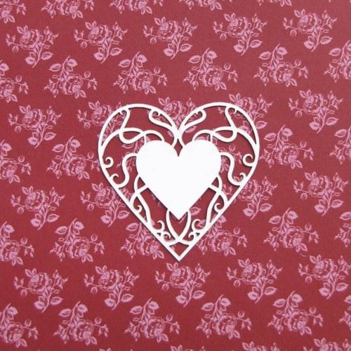 Filigránové srdce (větší)