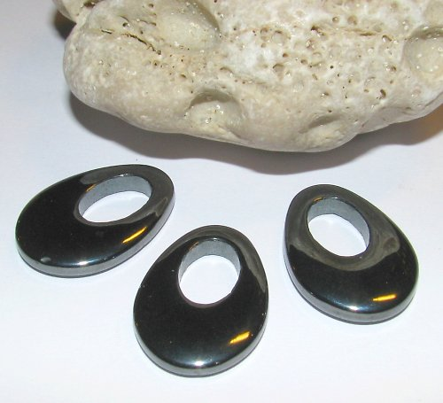 HT305 Hematit - hemalyke ovál 28x19 mm