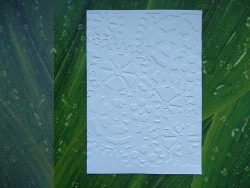 embosovaný papír č.14