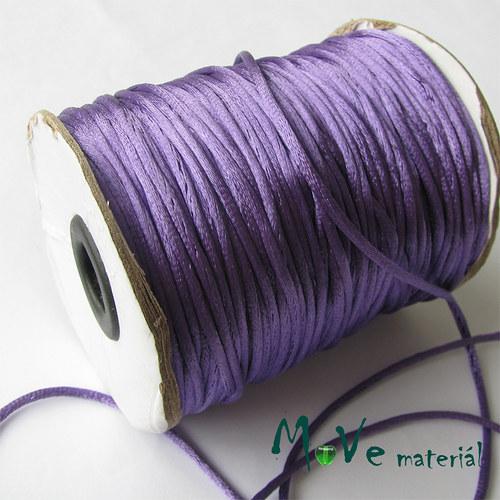 Šňůra Ø2mm saténová, fialová, 1m