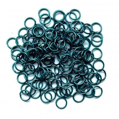Spojovací kroužky 6 mm tmavě zelené