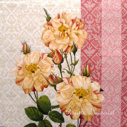 Růže větvičky - ubrousek velký