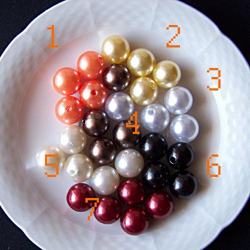 perly voskové/ lososová č.1/ 15mm/ 4ks