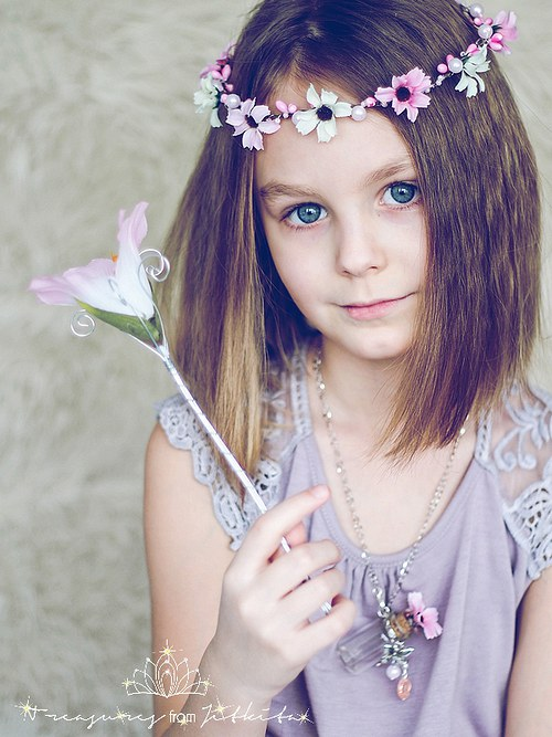 sada korunka, lahvička a hůlka pro květinovou vílu