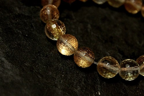 "Náramek \""Gold Sand Quartz\"" Ag 925"