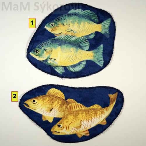 Nažehlovací záplaty rybičky dvojice jen č.2