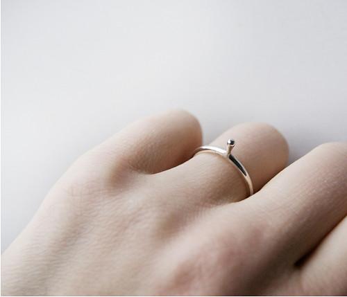 Minimalistický stříbrný prsten LIANA SILVER