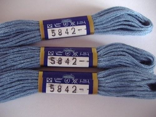 Vyšívací příze mouline - modrošedá