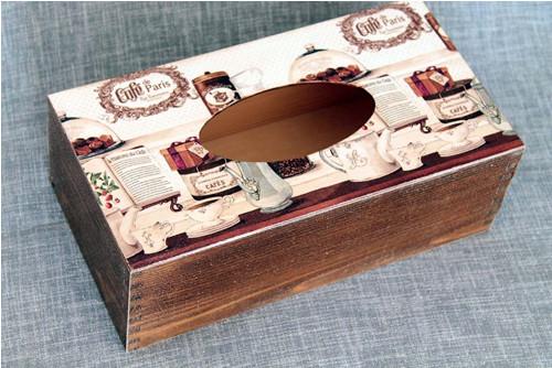 Krabička na kapesníky Café Paris