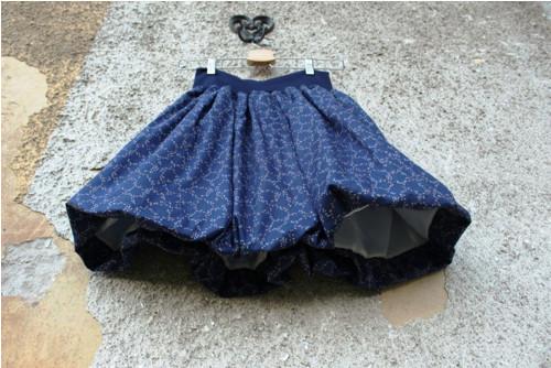 Balonová sukně Větvičky modré