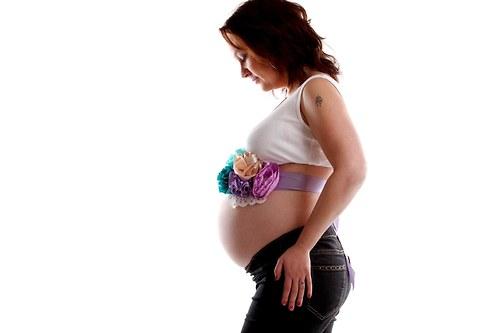 """Těhotenský pás na focení \""""Rozkvetlý\"""""""