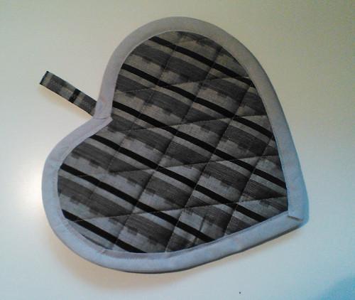 Chňapka kuchyňská - tvar srdce