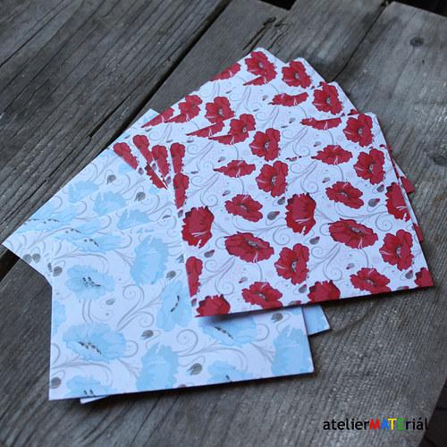 Papírové pytlíčky M 10ks(5+5) - květy