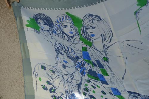 Přátelé...hedvábný šátek Patricie Stoffel