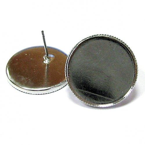 Naušnicové lůžko s puzetou - 20 mm - 1 pár