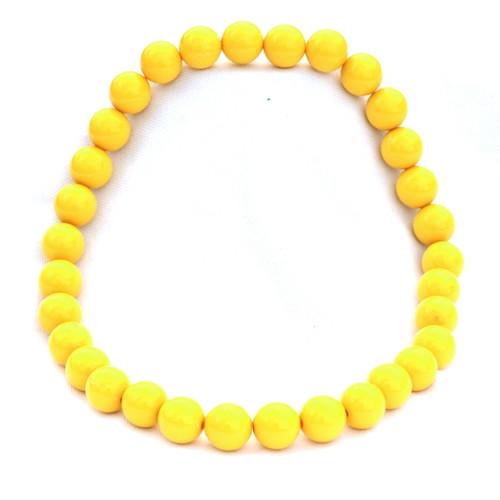Žluté střední korále na krk