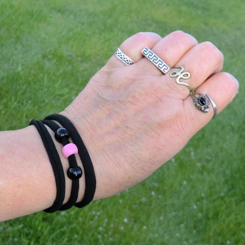 Variabilní - Černá + Růžová * náramek / choker