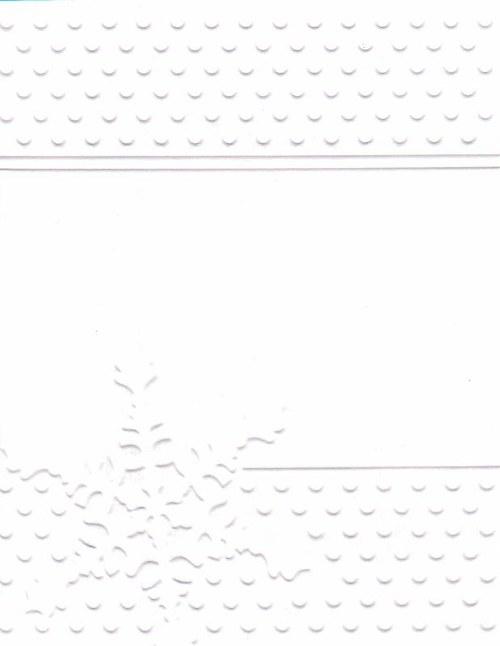 Embosovaná čtvrtka A6 - vločka bílá