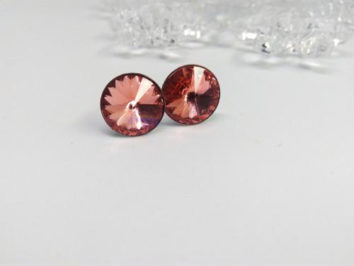 Ocelové náušnice - Rose Peach 12mm