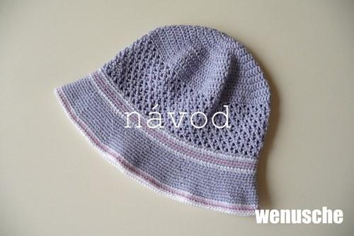 NÁVOD na klobouček s trojúhelníčkovým vzorem