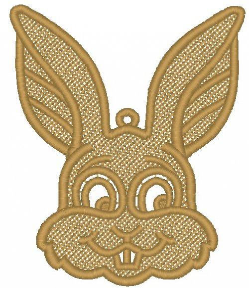 Krajková hlava zajíčka