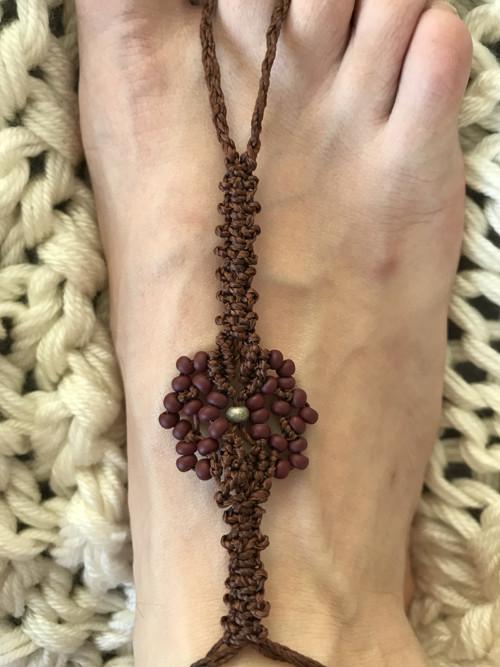 Bosé sandálky Velká kytička