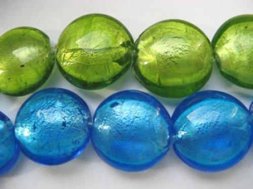 Skleněná čočka - korálek modrý