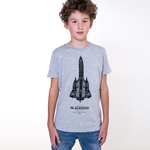 BLACKBIRD heather gray / dětské tričko