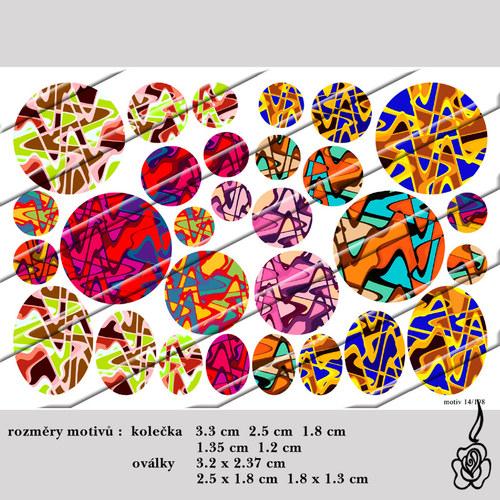 Motivy do pryskyřice - abstrakce