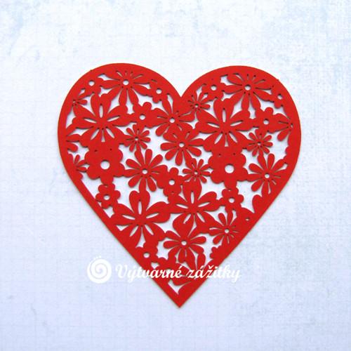 Filigránové srdce květinové (větší)