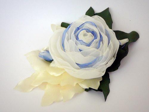 Modro-bílá růže.Sleva 50%.