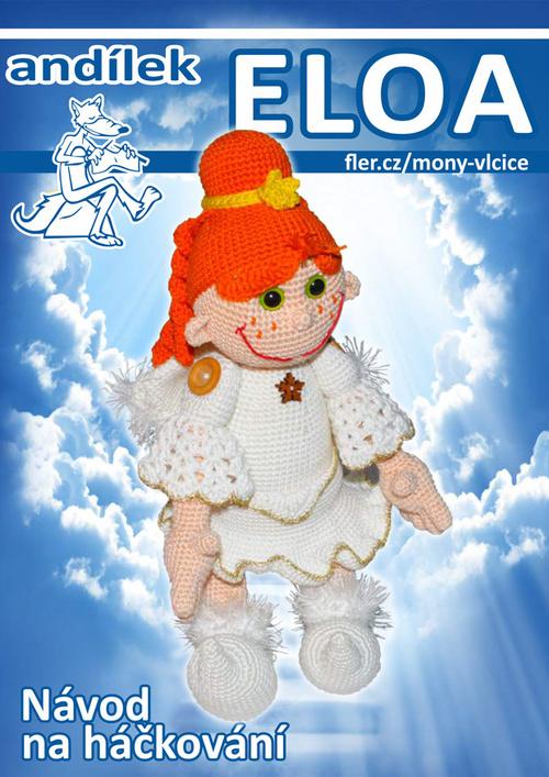 Háčkovaný andílek Eloa - návod