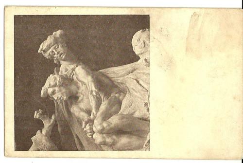 Umělecká pohlednice socha Probuzenci