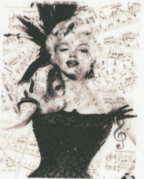 bavlněná látka - panel 8,5 x 11 cm