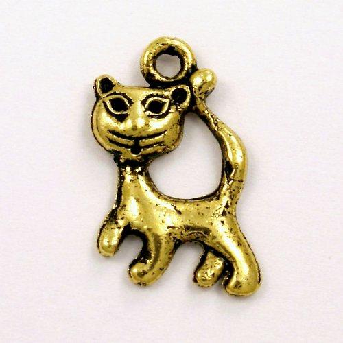 Přívěsek - stojící kočka zlatá